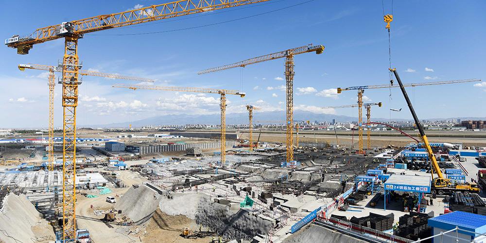 Obras de ampliação do Aeroporto Internacional de Urumqi Diwopu estão em andamento