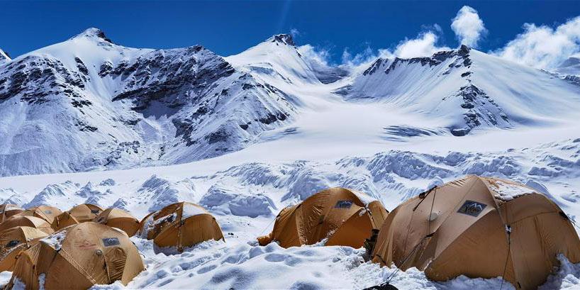 Fotos: acampamento avançado a 6.500 metros de altitude no Monte Qomolangma