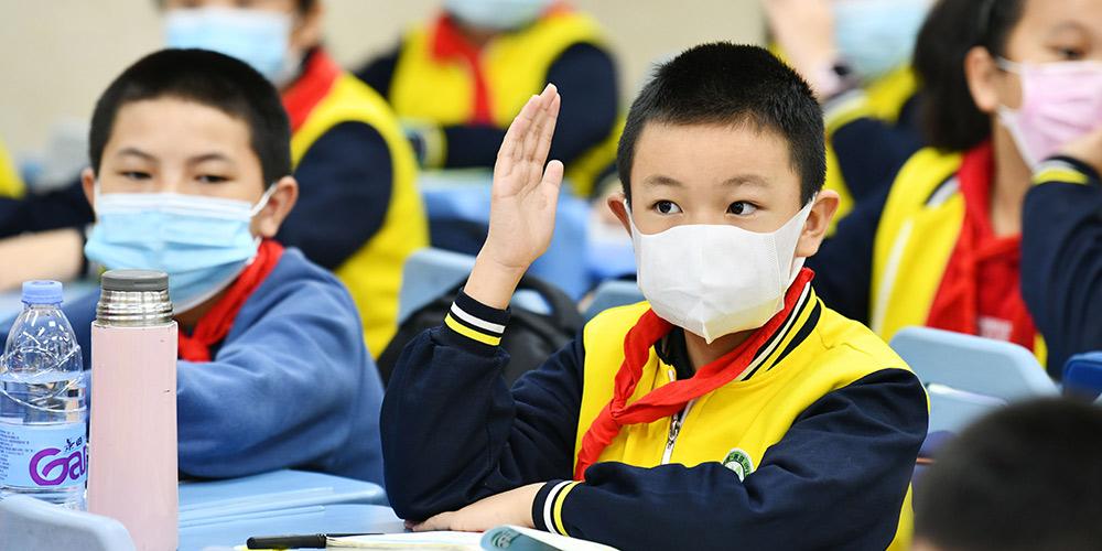 Escolas primárias de Guiyang retomam aulas presenciais de forma gradual