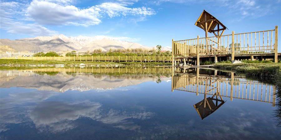 Paisagem do planalto Pamir em Xinjiang