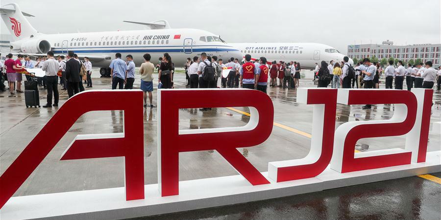 Aeronaves nacionais ARJ21 são entregues às principais companhias aéreas da China