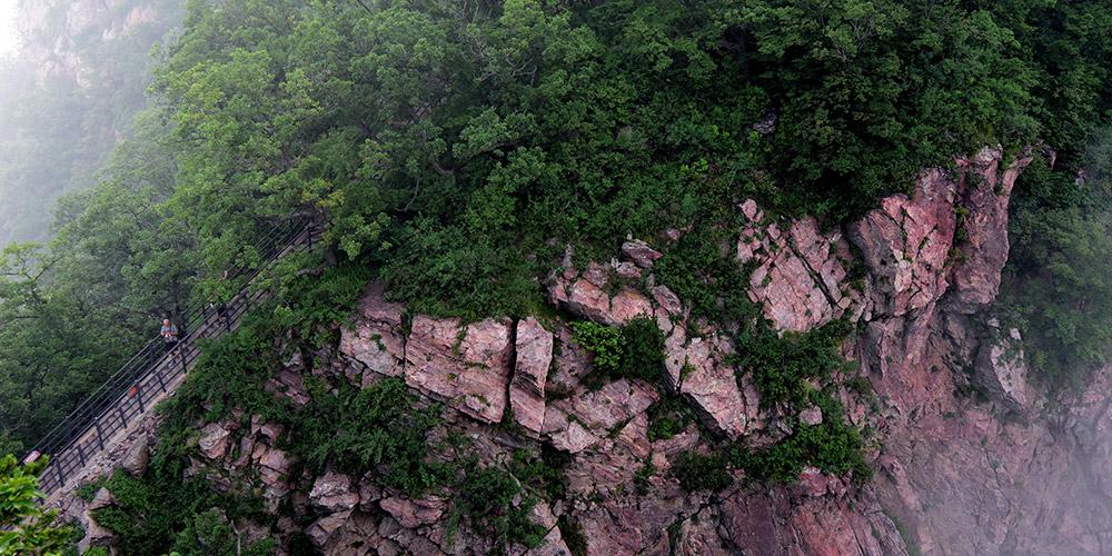 Paisagem da montanha Wangwu em Henan, centro da China