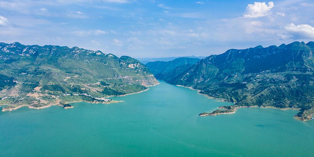 Paisagem do rio Zangke em Liupanshui, província de Guizhou