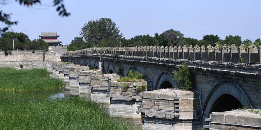 Vista da ponte Lugou em Beijing