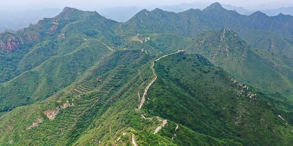 Paisagem da seção de Hongyukou da Grande Muralha em Hebei