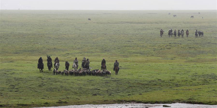 Pastores de Gansu se reúnem anualmente em pastagem para facilitar a busca por gado perdido