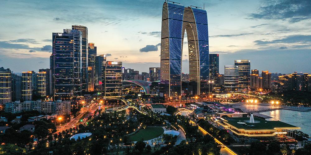 Vista da cidade de Suzhou