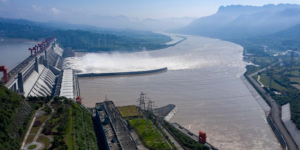 Vista aérea da Barragem das Três Gargantas em Hubei