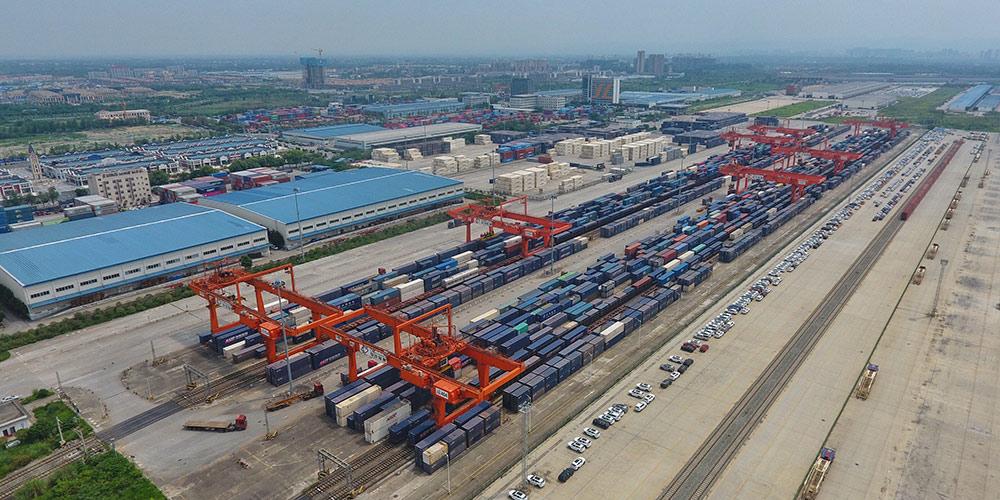 Fotos: Porto Ferroviário Internacional de Chengdu em Sichuan