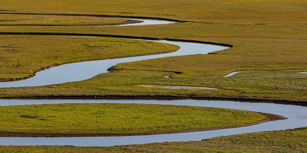 Cenário do pântano de Nilaba em Sichuan