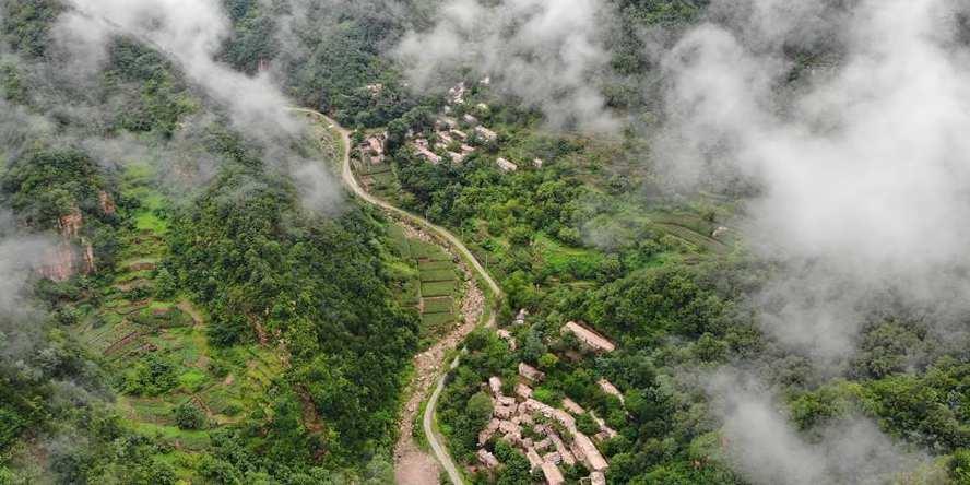 Paisagem da montanha Zijin em Xingtai, província de Hebei