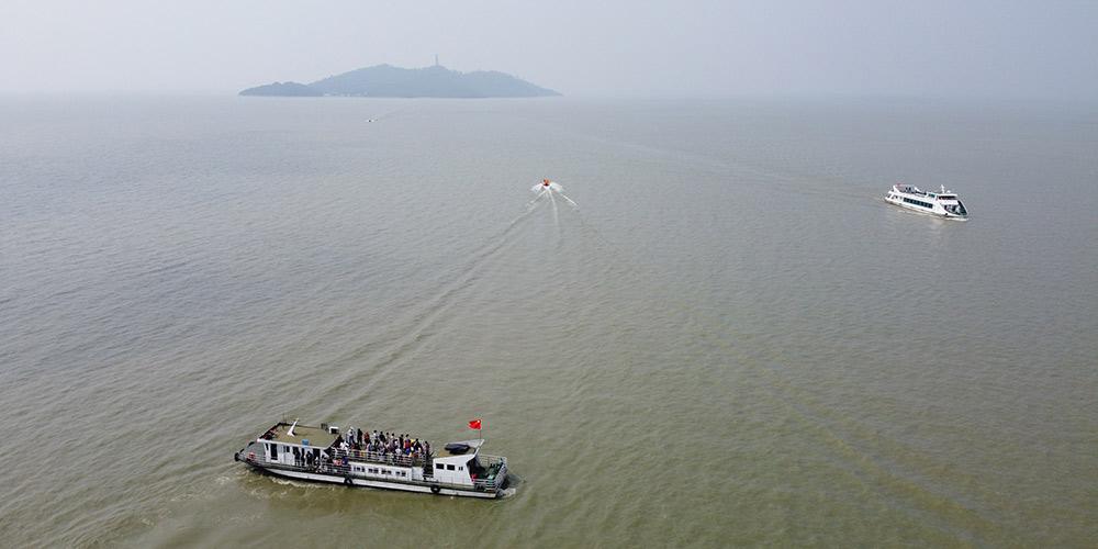 Ilha Mushan em Anhui reabre para turistas