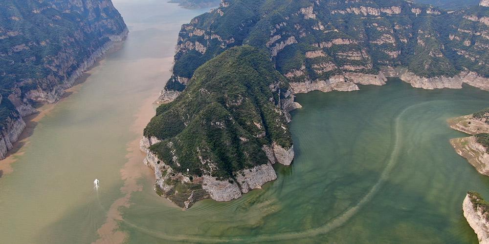 Vista da área panorâmica das Três Gargantas do rio Amarelo
