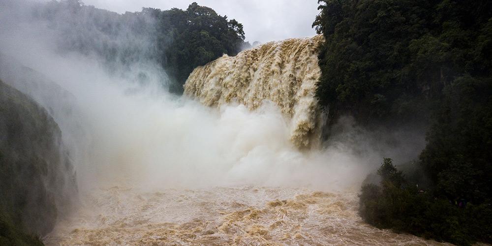 Paisagem da cachoeira Huangguoshu em Guizhou