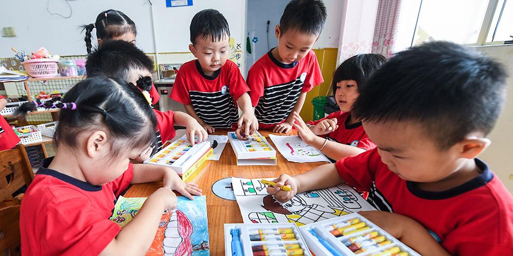China promove conscientização de saúde bucal em crianças