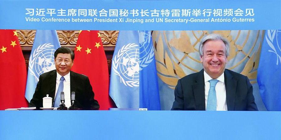 Xi e chefe da ONU realizam videoconferência