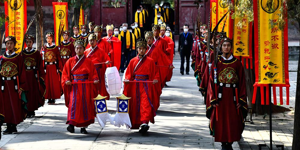 Cerimônia marca o aniversário de 2.571 anos do nascimento de Confúcio
