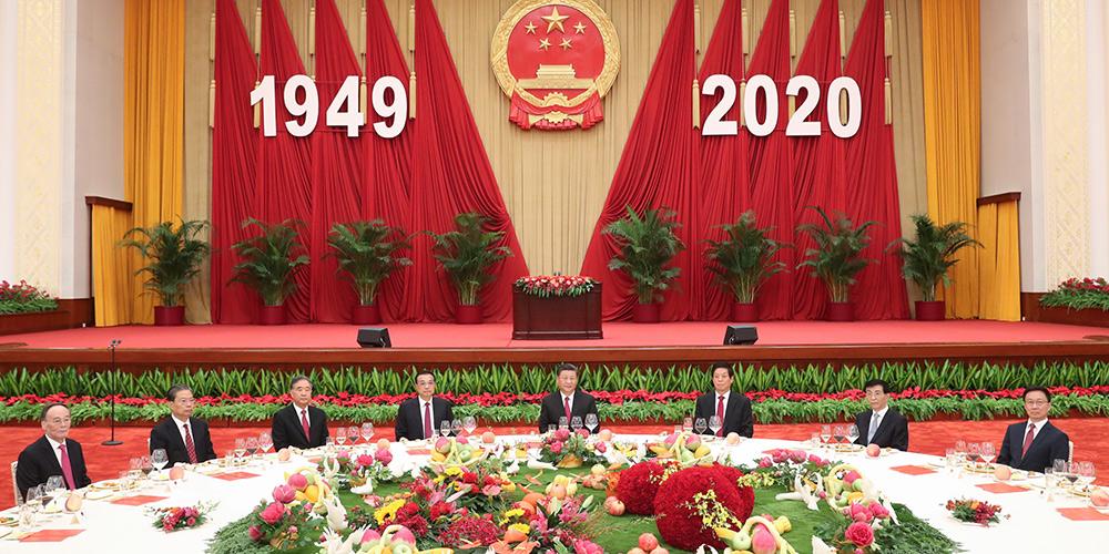 Conselho de Estado da China realiza recepção no Dia Nacional