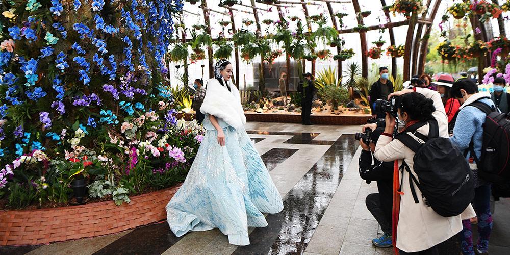 Exposição de arte floral começa em Chongqing