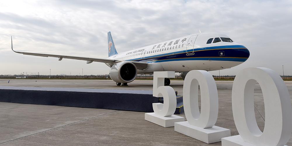 Airbus entrega 500ª aeronave da família A320 montada na China