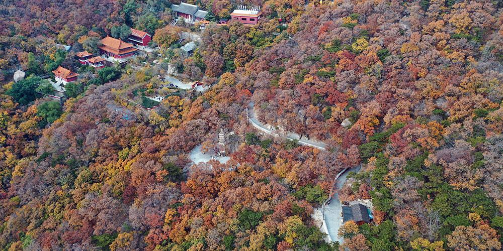 Paisagem de outono da montanha Panshane em Tianjin