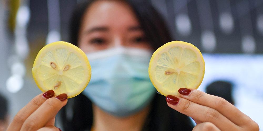 Fotos: vários alimentos exibidos na 3ª Exposição Internacional de Importação da China