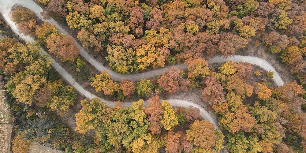 Paisagem de outono da montanha Taihang em Hebei