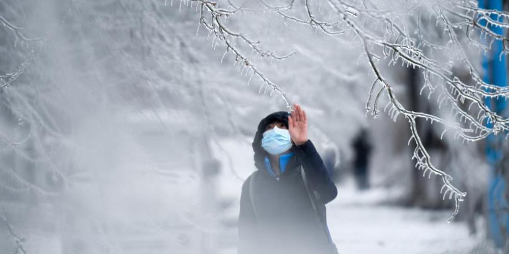 Neve e chuva congelada atingem Changchun