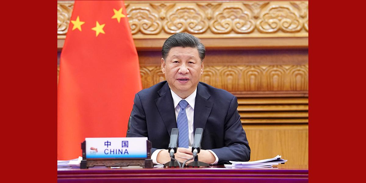 """Enfoque: Xi propõe """"parede corta-fogo"""" contra COVID-19 e livre comércio para recuperação econômica mundial"""