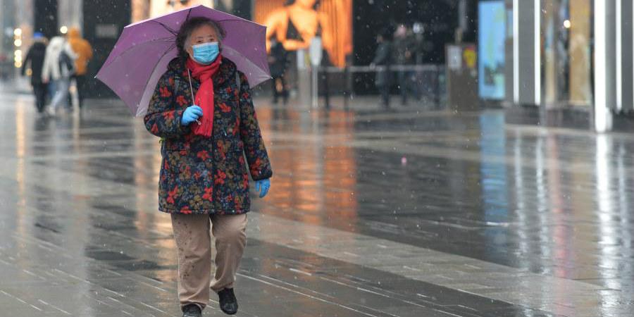 Neve atinge Chengdu,sudoeste da China