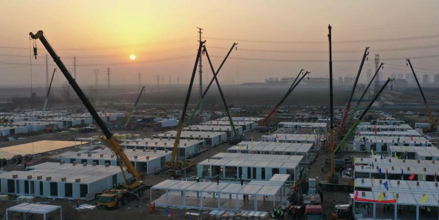 Shijiazhuang constrói novo centro de quarentena no distrito de Zhengding para conter o ressurgimento da COVID-19