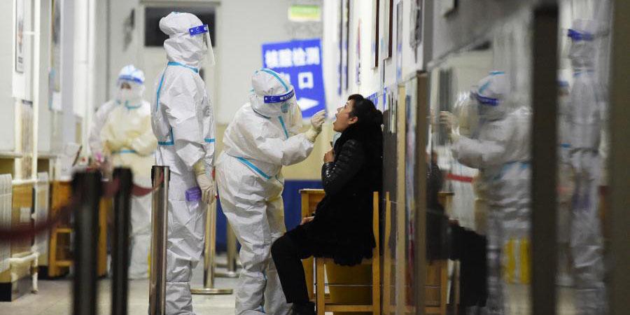 Testes de ácido nucleico seguem em Harbin, nordeste da China