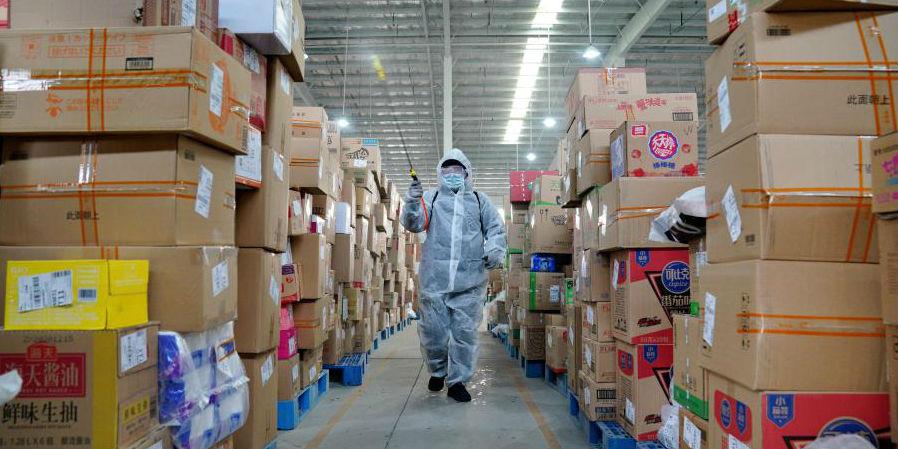 Empresas de logística em Shijiazhuang reforçam medidas de desinfecção