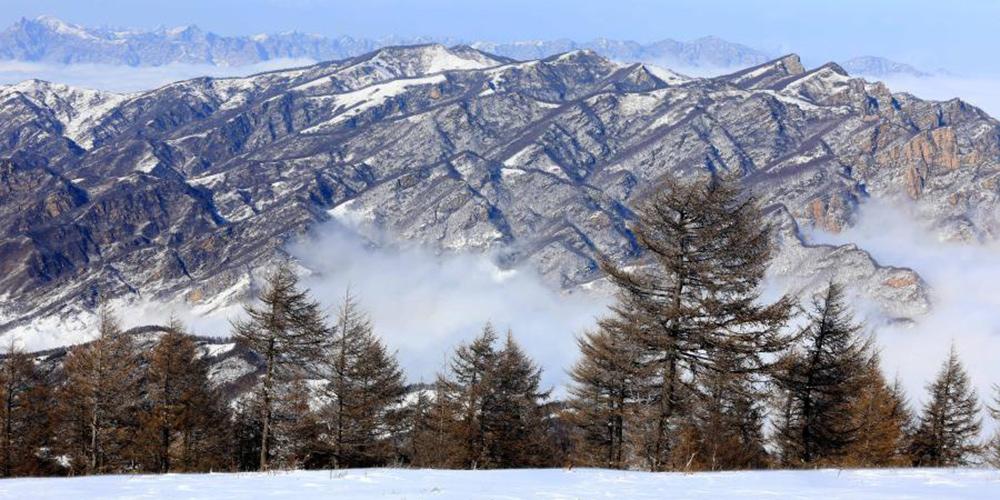 Paisagem da área cênica de Tuoliang, na província de Hebei