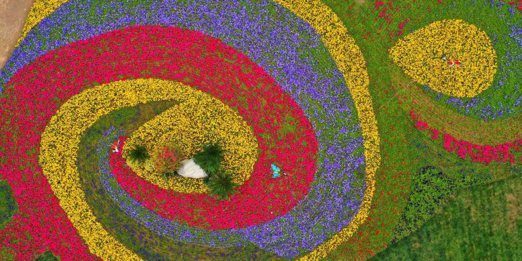 Pessoas apreciam flores da primavera ao redor da China